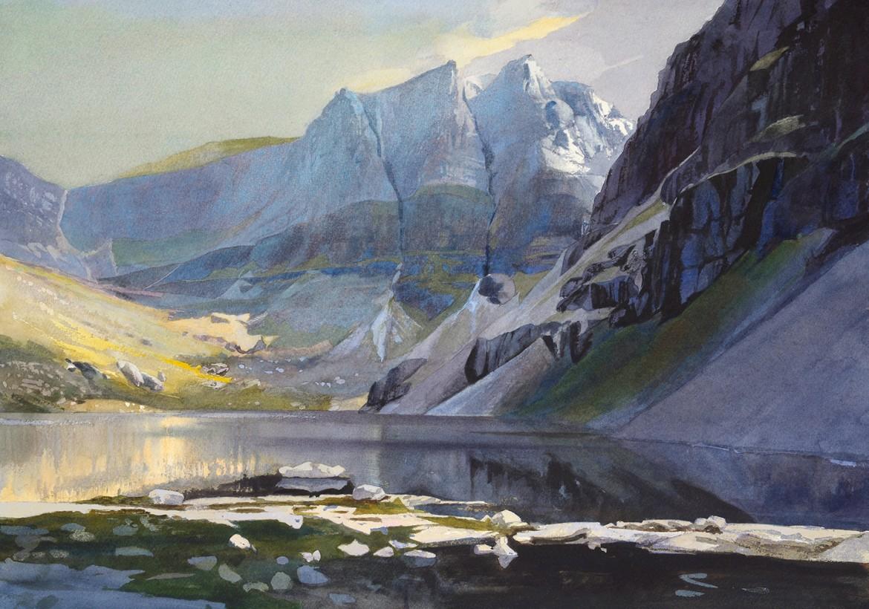 Coire Mhic Fhearchair, Torridon - watercolour 53 x 75cm