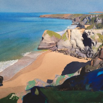 Bedruthan Steps from Clifftop