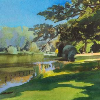 Lake, Corsham Park