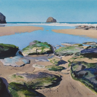 Trebarwith Strand and Gull Rock