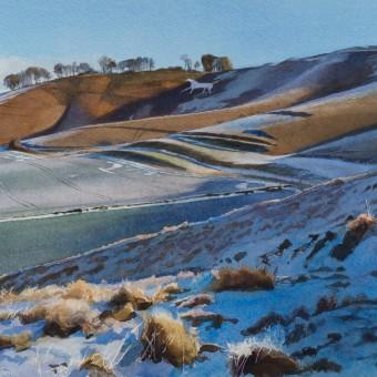 Cherhill White Horse, Winter