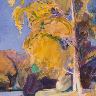 Yellow Tree, River Aulne, Brittany