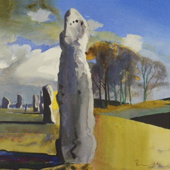 Avebury with Trees