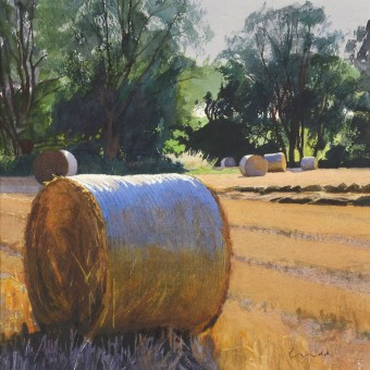 Evening Light, Straw Bales