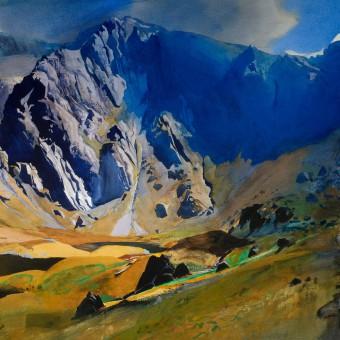 Llyn Idwal, and glyder fawr, Snowdonia