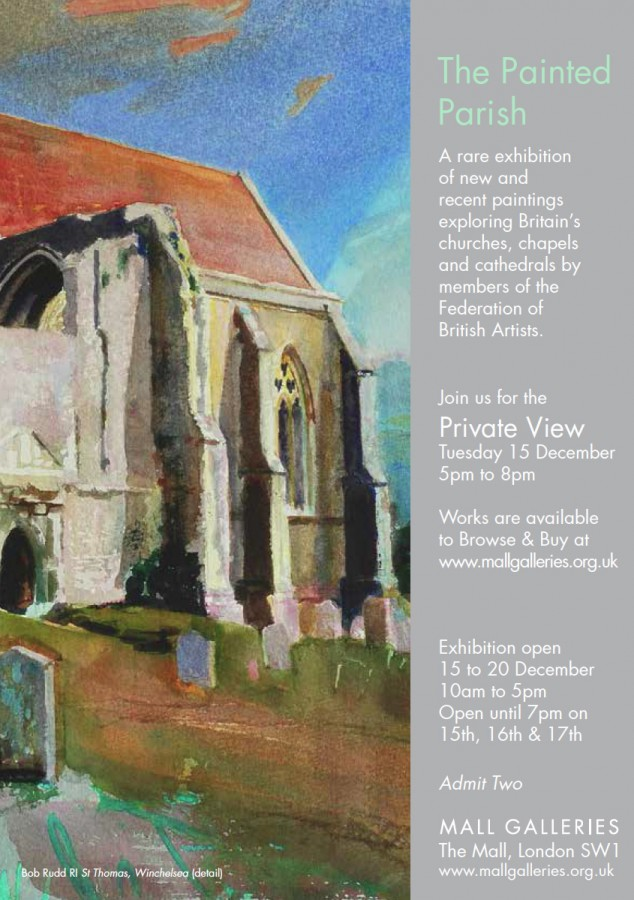 Poster for The Painted Parish exhibition
