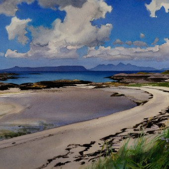 Rum & Eigg from Lon Liath