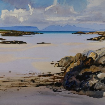 Rum & Eigg from Lon Liath, Arisaig