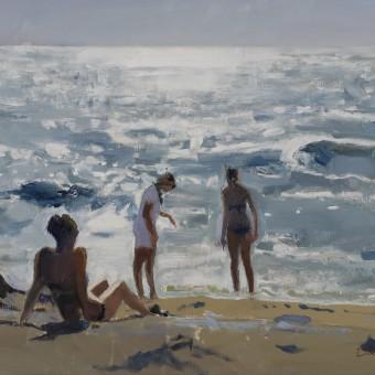 Three Girls on a Beach